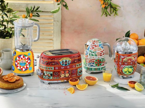SMEG and Dolce & Gabbana - Group of kitchen appliances