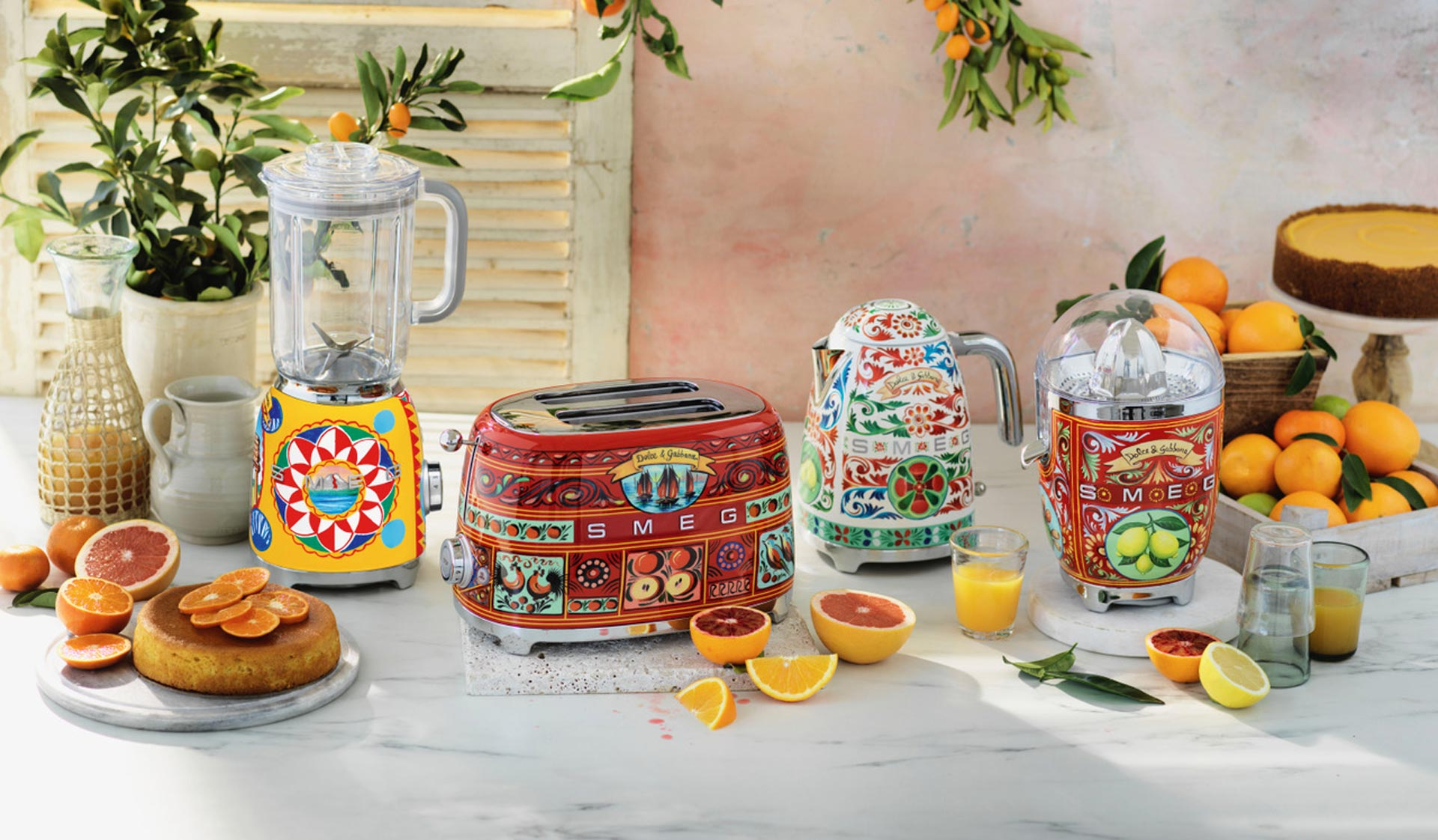 SMEG and Dolce & Gabbana - Group of kitchen appliances