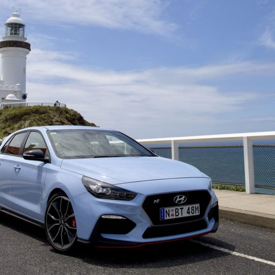 Byron Bay Lighthouse in the New Hyundai i30 N Performance Car 1