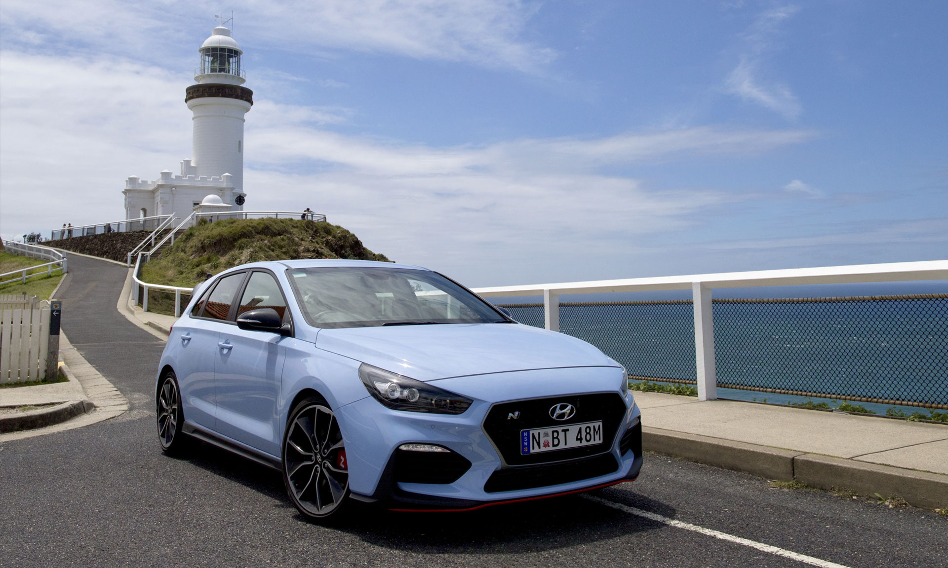 Byron Bay Lighthouse in the New Hyundai i30 N Performance Car 6