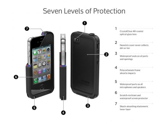 LifeProof Case for iPhone 4 + 4s 1