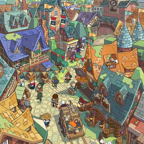 Fantasy Life_ill_Royal Capital_ Castele
