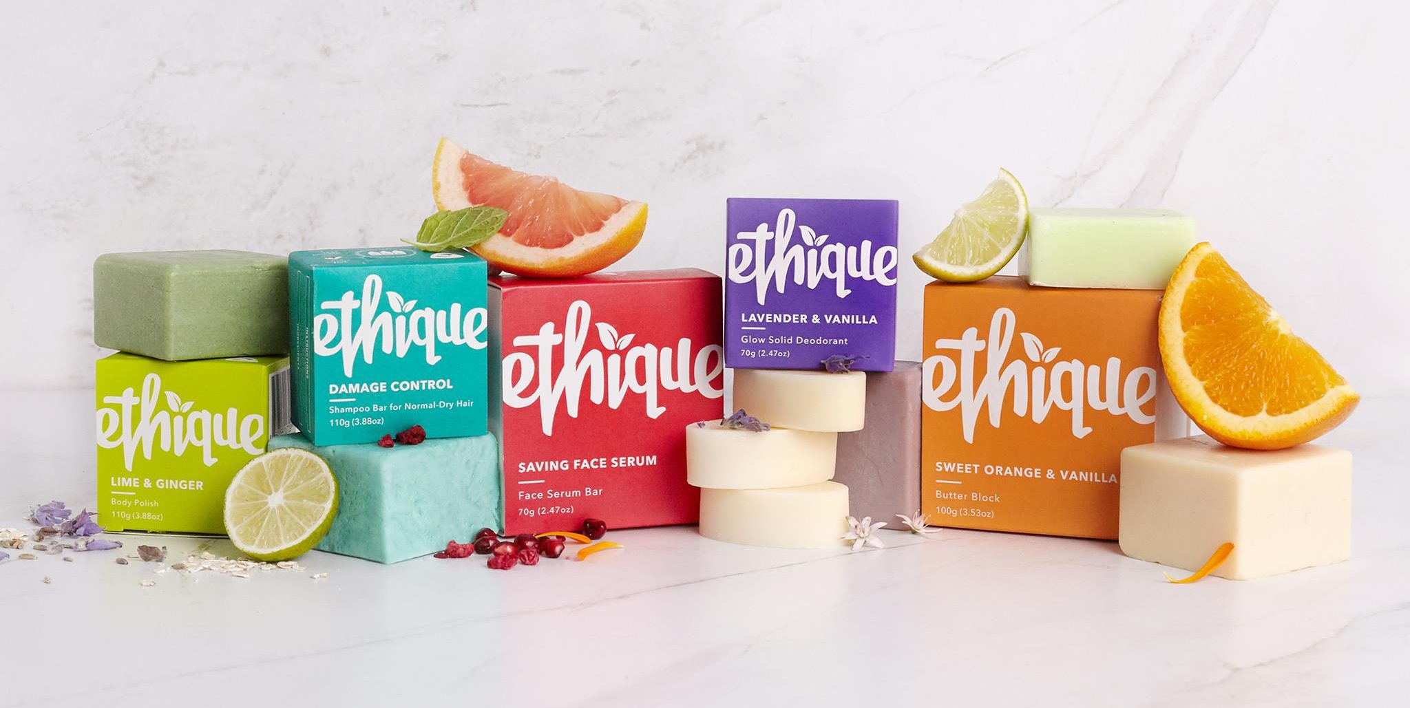 The Ethique beauty bar range